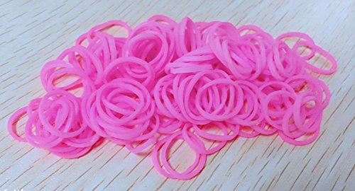 RICISUNG Pack of 250 Small Mini Hair Elastics Rubber Braiding Bands for Dreads Cornrows Braiding (Pink)