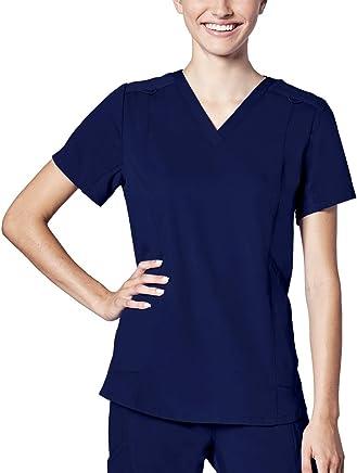 Adar Responsive Scrubs for Women - Active V-Neck Scrub Top