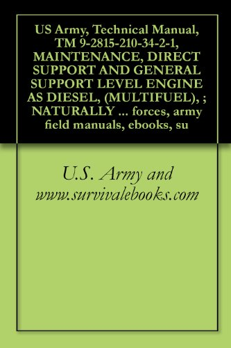 Technical Manual, TM 9-2815-210-34-2-1, MAINTENANCE, DIRECT SUPPORT AND GENERAL SUPPORT LEVEL ENGINE AS DIESEL, (MULTIFUEL), ; NATURALLY ASPIRATED OR TURBOCHARGED, ... , {TO 38G1-48-12-2-1} (English Edition)