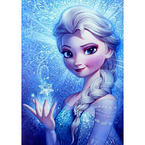 """DIY 5D Diamond Painting by Numbers Kits for Adults,16""""X12"""" Paintings Crystal Rhinestone Diamond Embroidery Full Drill Cross Stitch Kit Pictures Arts Craft for Home Décor,Frozen Elsa"""