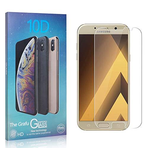 The Grafu Displayschutzfolie für Galaxy A3 2017, 3D Touch, Blasenfrei, 9H Ultra klar Schutzfolie aus Gehärtetem Glas Kompatibel mit Samsung Galaxy A3 2017, 4 Stück
