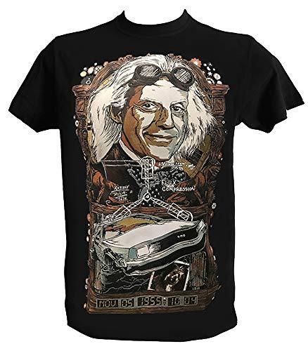T Shirt Back to The Future Homme Enfant Tee Shirt Retour vers Le Futur Film Culte Annee 80, Homme - 2XL