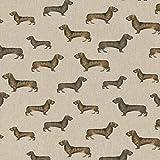 Hans-Textil-Shop 1 Meter Stoff Meterware Dackel Hunde