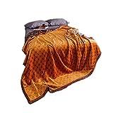【MarieAnge】 H字柄 オリジナル 毛布 ブランケット コーラルフリース SS-713 (200㎝×230㎝)