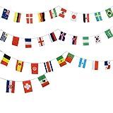 Sonia Originelli Fahnenkette WM EM Girlande 32 Länder 10,5m Fußball Farbe Weltmeisterschaft '18