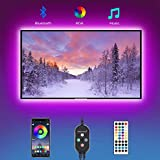 LED Strip Lights, Hedorance 6.56ft TV LED Backlight for 40-60 inch TV with Remote APP Control Sync to Music, 16 Million Color Changing USB RGB LED Lights for TV, PC Monitor, Mirror, Gaming Room