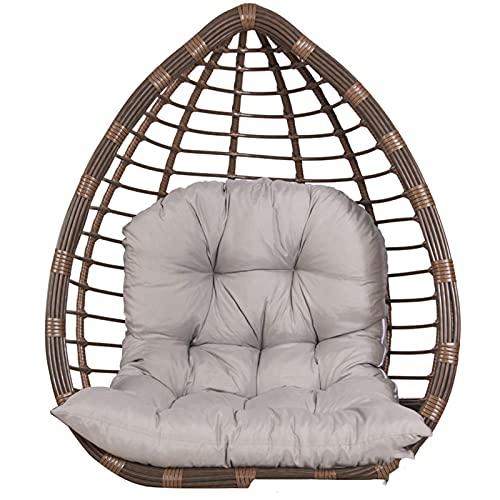 Colgante de silla almohadilla trasera almohadilla colgando cesta oscilante huevo nido hamaca hamaca no se engrosa con la almohada de la cabeza utilizada para jardín de patio al aire libre interior (si
