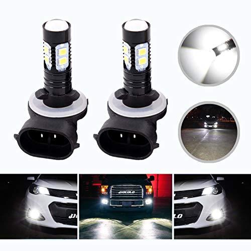 HOCOLO - Bombillas LED de luz antiniebla para DRL o luces antiniebla, 50 W de alta potencia, 881/880, color blanco xenón