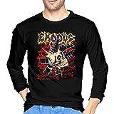 Levoncar Exodus Long Sleeve T Shirt Men Crew Neck Graphic T-Shirt Black