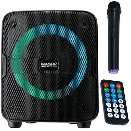 Daewoo DSK-388 Altavoz Bluetooth Karaoke 30W, Batería Recargable. Incluye Mando y Micrófono.