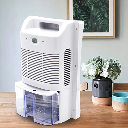 Yinleader Deumidificatore 2L compatto e portatile contro umidità, sporco e muffe in casa, bagno, ufficio o cantina con sterilizzazione UV