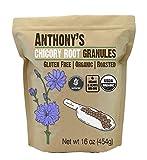 Anthony's Organic Roasted Chicory Root Granules, 1 lb, Gluten Free, Non GMO, Caffeine Free, Keto Friendly