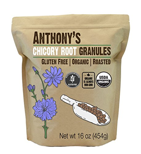 Anthony's Organic Roasted Chicory Root Granules, 1 lb, Gluten Free, Non GMO, Caffeine Free, Keto Friendly