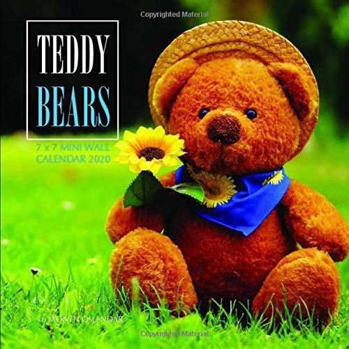 Teddy Bears 7 x 7 Mini Wall Calendar 2020: 16 Month Calendar