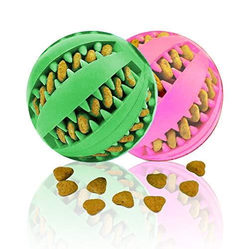 [2 piezas] pelota de juguete para perros, una pelota de juguete para masticar duradera y resistente hecha de caucho natural, adecuada para perros domésticos de varios tamaños