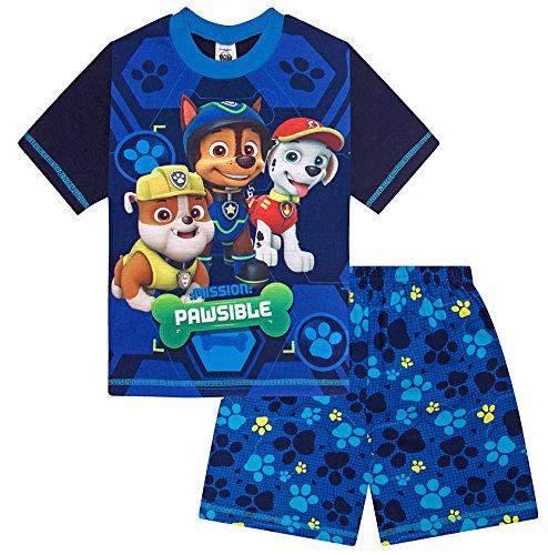 ThePyjamaFactory Jungen Schlafanzug blau blau Gr. 5-6 Jahre, blau