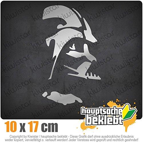 KIWISTAR Sith Silhouette - Lord Vader 17 x 10 cm IN 15 FARBEN - Neon + Chrom! Sticker Aufkleber