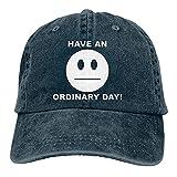 VJSDIUD Gorra de Mezclilla Popular Unisex Tenga un día Ordinario Hombres Mujeres Sombrero de Camionero Gorras de béisbol Ajustables Vintage