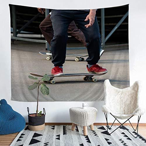 Tapiz de skate para colgar en la pared, para niños, niños, deportes extremos, decoración de pared, estilo hipster, para dormitorio, sala de estar, 152 x 222 cm