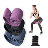 3 Pack Resistance Bands Workout Bands Yoga Bands Exercise Bands for Legs and Butt, Stretch Bands for Exercise, 3 Pack Non-Slip Workout Bands for Women Fitness/Yoga /Pilates, Ideal
