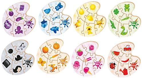 Brinquedo Pedagógico Madeira Aprendendo as Cores 48 Peças Brincadeira de Criança