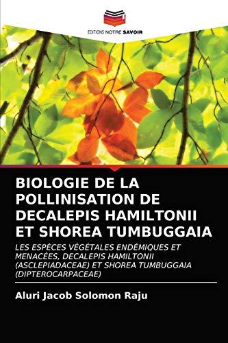 BIOLOGIE DE LA POLLINISATION DE DECALEPIS HAMILTONII ET SHOREA TUMBUGGAIA: LES ESPÈCES VÉGÉTALES ENDÉMIQUES ET MENACÉES, DECALEPIS HAMILTONII (ASCLEPIADACEAE) ET SHOREA TUMBUGGAIA (DIPTEROCARPACEAE)