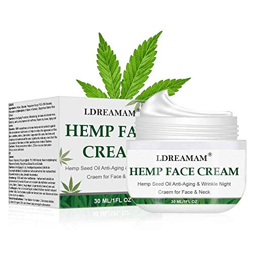 Hemp Cream, Face moisturizer Cream, Anti-Wrinkle And Fine Lines, Anti-Aging Hemp Oil Day Face And...