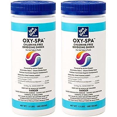 2-Pack Oxy-Spa Non-chlorine Hot Tub & Pool MPS Oxidizing Shock 2 x 1.5 lb (3 Lbs. Total)