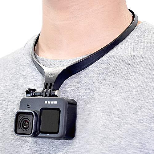 【GLIDER】 GoPro用 アクセサリー ネックマウント® Air マットブラック 日本製 ネックハウジングマウント®(HERO9 MAXHERO8/7/6/5 Osmo Action対応) 国産 首 ネック ネックレス ネックストラップ スマホ ゴープロ用 アクションカメラ 釣り SUP 1年保証 GLD4737MJ53B