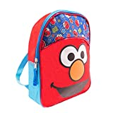 Sesame Street Elmo Toddler Preschool Backpack Set - Bundle Includes Deluxe 11 Inch Sesame Street Elmo Mini Backpack and Stickers (Sesame Street School Supplies)