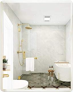 LLRYN Bathroom Makeup Mirror, Anti Fog Bathroom Wall Mounted Makeup Mirror, Vertical and Horizontal Mirrors