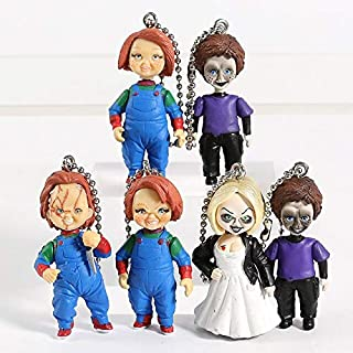 TIKIDA Horror Movie Child's Play Bride of & Son Doll Keyring Keychain Pendant Figures Toys 6Pcs/Set Cool Must Haves Boy Gifts The Favourite Toys Superhero Birthday UNbox Me