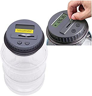 Money Boxes - Automatic Counting Clear Digital Electronic Piggy Bank Coin Saving Money Box Jar - Cash Boxes Birthday Reception Lock Wedding Gifts Parties Adults Tray Slot Home That Money