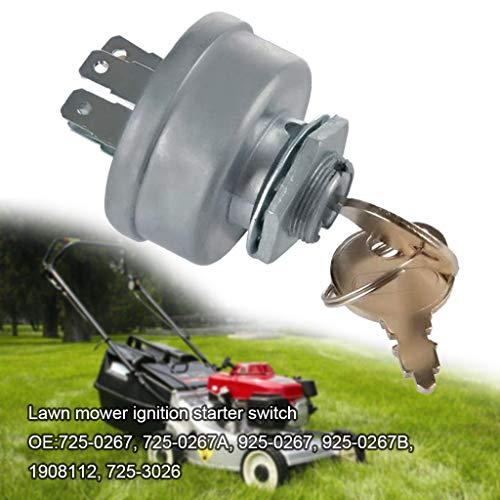 95sCloud Zündschloss Rasentraktor Traktor Rasenmäher Zündschalter-Rasenmäher-Zündstarter 3 Position 5 Termials -Motorstartschalter-Schalter mit Schlüssel für Ariens,Bobcat,Gilson usw