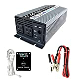 GoWISE Power 600W Pure Sine Wave Inverter 12V DC to 120V AC...