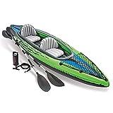 DEAR-JY Kayak,Kayaks hinchables Engrosado para 2 Personas con Paleta de Aluminio y Bomba de Aire,Bote de Agua Inflable Barco de Deriva Barco de Pesca Aventura Canotaje,351 × 76 × 38 cm
