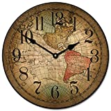 Vincenzo World Map Wall Clock, Available in 8 Sizes, Most Sizes Ship...