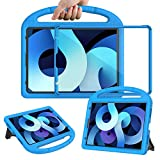 eTopxizu Kids Case with Built-in Screen Protector for New iPad Air 4th Generation 10.9 Inch 2020, Light Weight Shockproof Handle Stand Protective Case for 2020 iPad Air 4 10.9/iPad Pro 11, Blue