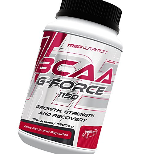 BCAA G-Force - Ultimate Growth, Strength and Recovery Formula - Innovative BCAA and L-Glutamine Matrix - TREC Nutrition (90caps / 180caps / 360caps) (90)
