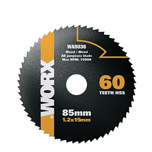 Worx HSS Sägeblatt 85 mm. 60 Zähne. 1 Stück. WA5036