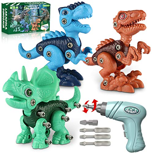 Dinosaur Toys for 3 4 5 6 7 Year Old Boys, Take Apart Dinosaur Toys for...