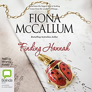 Finding Hannah                   By:                                                                                                                                 Fiona McCallum                               Narrated by:                                                                                                                                 Miranda Nation                      Length: 9 hrs and 14 mins     15 ratings     Overall 4.0