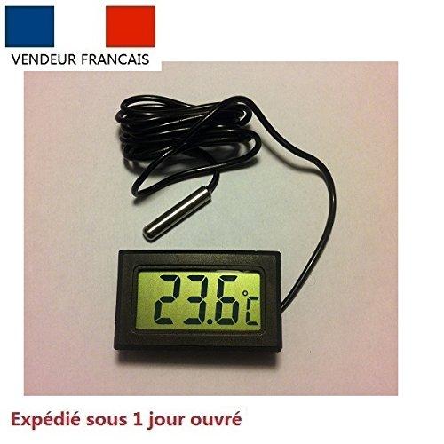 Digital Thermomètre Sonde Aquarium Frigo Sauna congélateur voiture maison noire