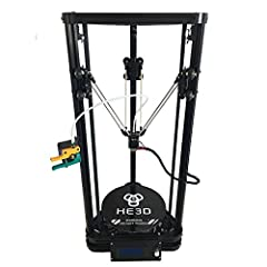 He3D K200 single head delta 3d printer kit- support multi material filament● Support continual and easy software update ● Modular structure, simple maintenance and easy to use ● Full-metal frame, durable and strong ● Print size: 200 ( diameter ) x 30...