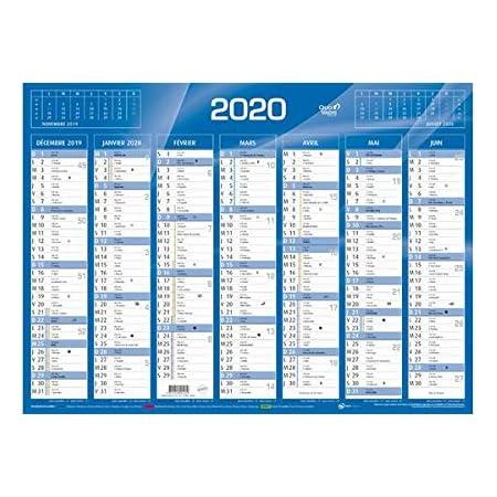 57000162 550 x 405 mm XS-PACK 3x QUO VADIS Calendrier de banque bleu 2021