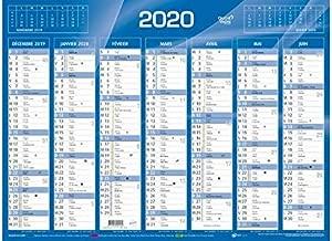 QUO VADIS  Calendrier de Banque Bleu 27x21cm 2020