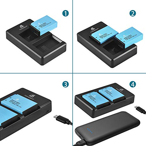 Homesuit LP E17 Battery 2-Pack and Dual Charger Kit for Canon EOS RP,Rebel T8i, T7i, T6i,Sl2, SL3, M6, 77D, 800D, 750D, M5, T6s, 8000D, KISS X8i
