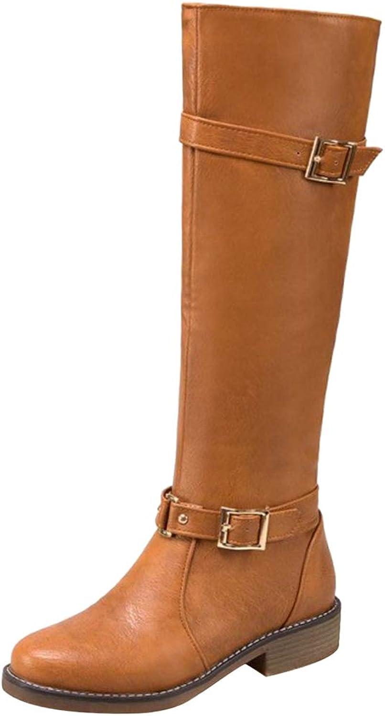 Melady Women Casual Winter shoes Knee High Boots Zipper