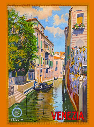 A SLICE IN TIME Venezia Venice Italy Vintage European Travel Advertisement Collectible Wall Decor Poster Picture Print. Poster Measures 10 x 13.5 inches