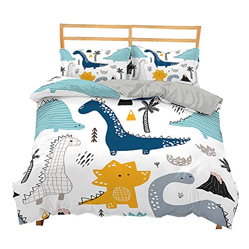 DMHunt Dinosaur Soft Microfiber Cartoon Bedding Set Boys Kids Teens Adult Girls Duvet Cover Set with...